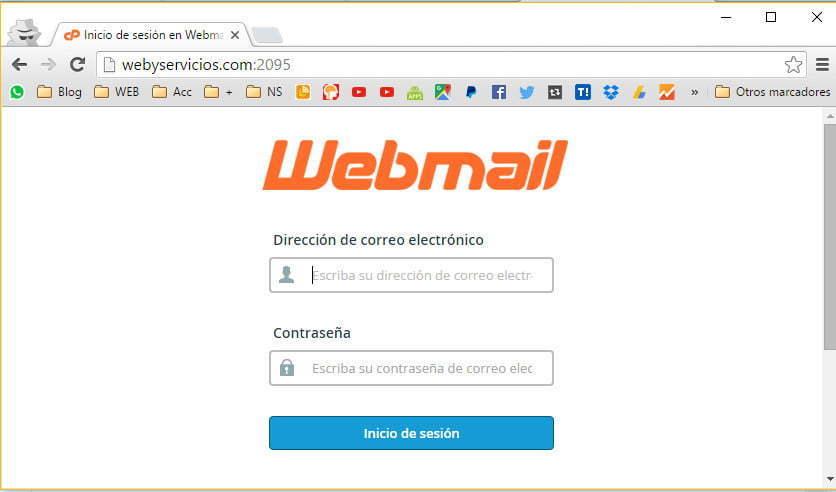 como entrar en webmail