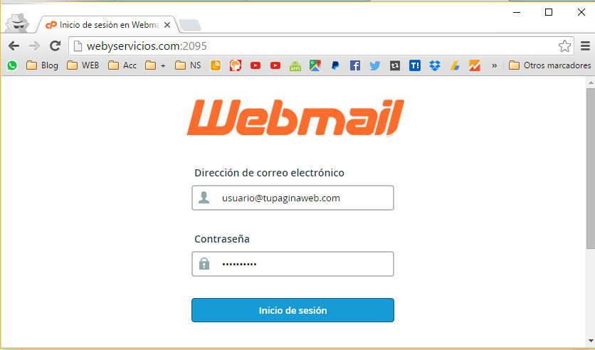 usuario de correo webmail