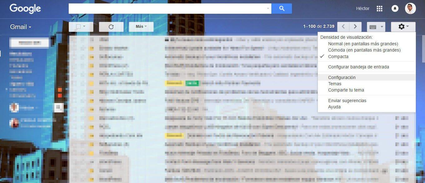 configurar gmail para reenvio de correos