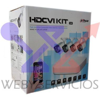 kit dahua 4 cámaras modelo 2017
