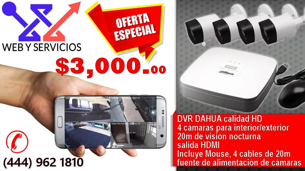 Oferta Enero 2017 Kit Dahua 4 Camaras