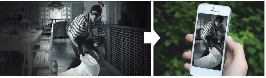 ladrón detectado cámara de seguridad dahua