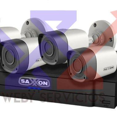 kit cámaras saxxon vigilancia