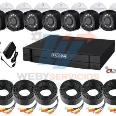 kit saxxon 8 cámaras hd