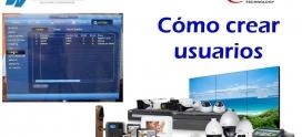Crear usuarios en DVR NVR Dahua Saxxon