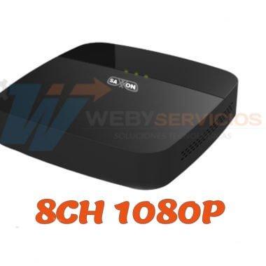 DVR saxxon 8 canales 1080P