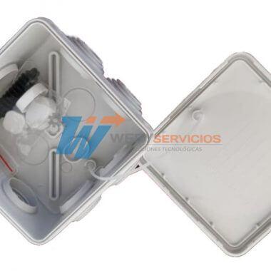 Caja nema 80x80x45mm estanca conexiones cámara de cctv