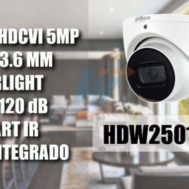 DAHUA HDW2501TA36 domo 5 MP STARLIGHT