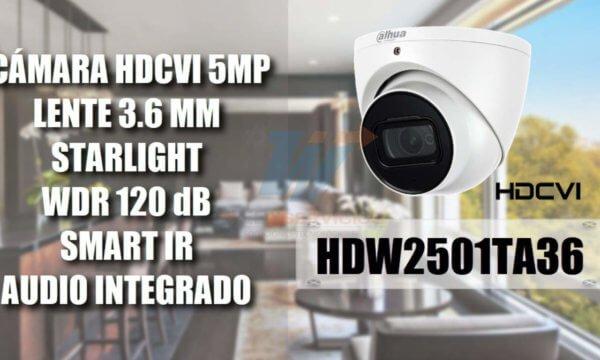DAHUA HDW2501TA36 domo 5 MP STARLIGHT