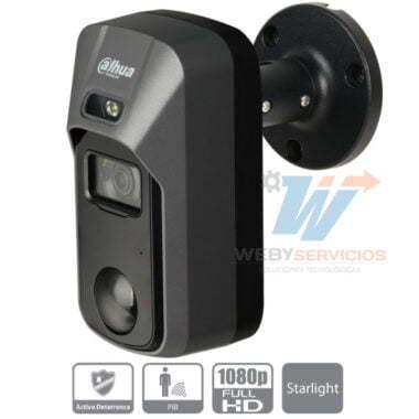 cámara DAHUA ME2241C disuasión activa alarma sensor pir