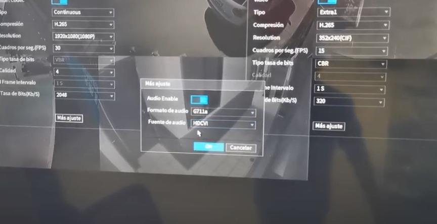 activar audio en cámaras