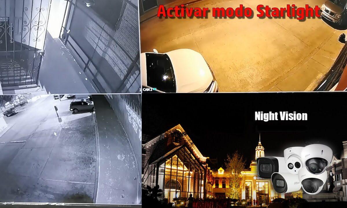 cómo activar starlight y ver de noche a color