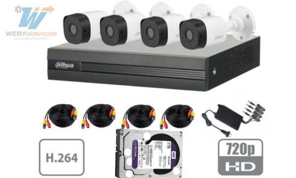 Kit DAHUA XVR1A04KIT 1TB wd purz