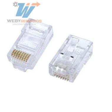 plug rj45 cat6 100 piezas