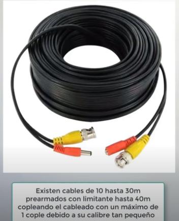 que cable usar para cámaras de seguridad