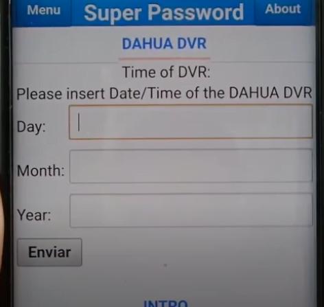 Recuperar o Restaurar la Contraseña de DVR Dahua