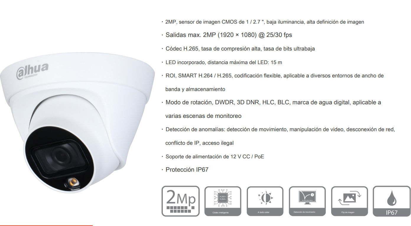 datasheet DAHUA IPC-HDW1239T1-LED-S4