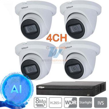 kit cámaras ip 4k dahua wizsense
