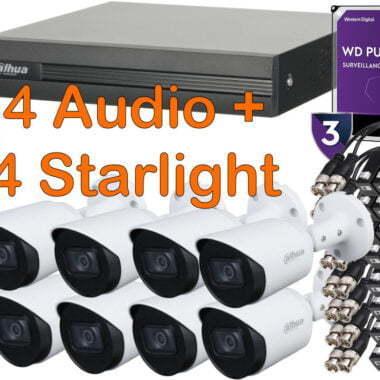 4 starlight 4 camaras audio