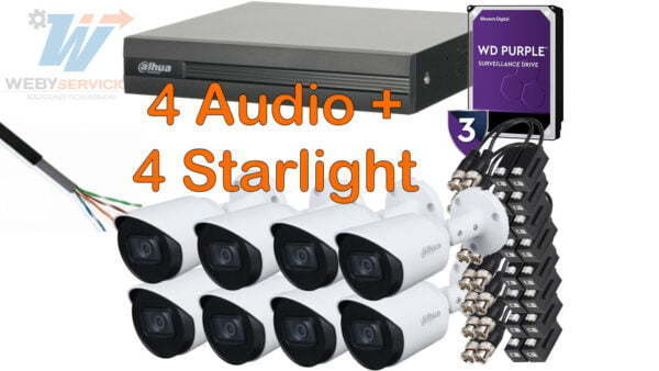 4 starlight 4 camaras audio