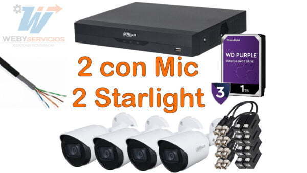 Kit starlight 4 cámaras