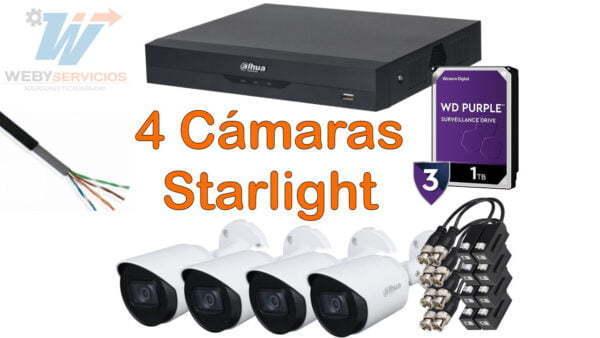 kit 4 cámaras starlight