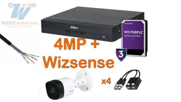 kit 4mp wizsense 4 cámaras